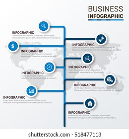 Business infographic template. Vector illustration. Can be used for workflow layout, banner, diagram, number options, web design, timeline elements