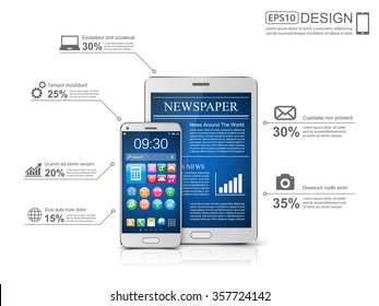 Business Infographic, vector