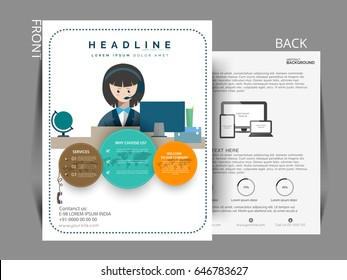 Business infographic vector, business flyer, sale broucher with eps .