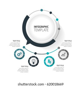 Business infographic - vector set of infographic elements for presentation, booklet, website.