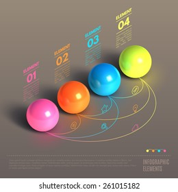 Business Infographics ball concept. 3d isometric vector illustration. Can be used for web design and workflow layout