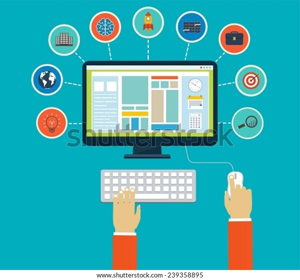 Business infographics by using modern of digital devices or web apps, reporting, statistic data with icons