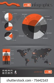 Business Infographics and charts. Vector illustration