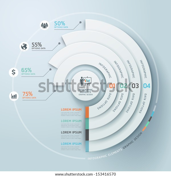 Business Infographics circle origami style Vector illustration. can be used for workflow layout, banner, diagram, number options, step up options, web design.