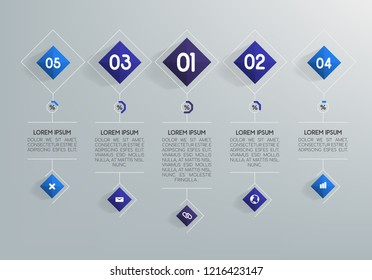Business infographics for data visualization. Vector business template for presentation. Creative infographic concept.