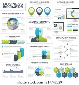 Business infographics and data visualization vector elements