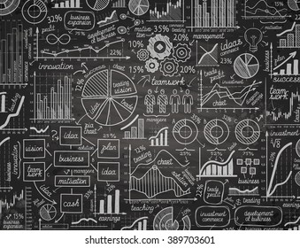 business infographics doodle. vector illustration