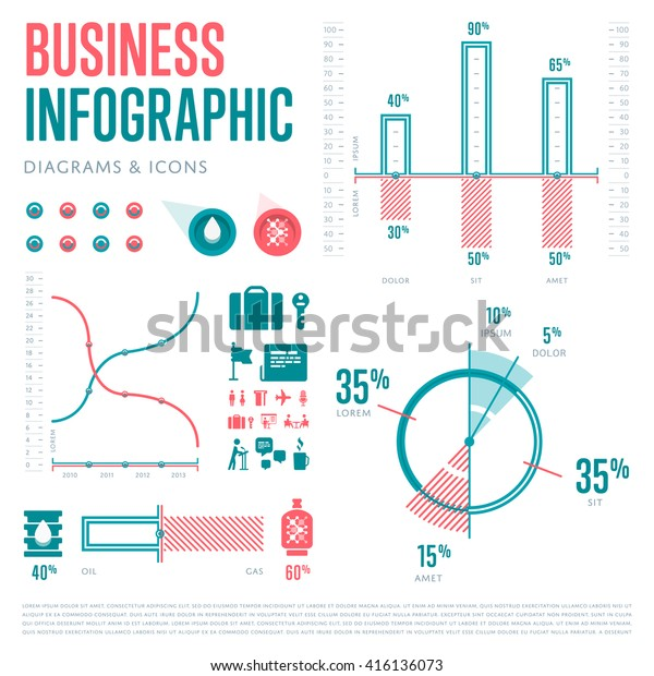 Business Infographics Elements set. Vector Illustration icons