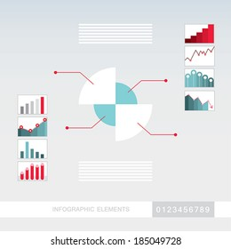 Business infographics elements template. Modern,abstract,simple flat design style. Vector illustration.