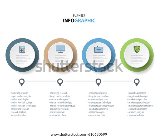 Business Infographics Marketing Icons Annual Report Stock