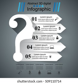 Business infographics. Question mark. Head icon.