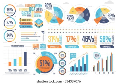 Business graph images stock photos vectors shutterstock business infographics set with different diagram vector illustration data visualization elements marketing charts and publicscrutiny Images