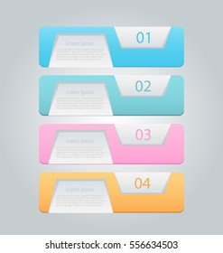 Business infographics tabs template for presentation, education, web design, banners, brochures, flyers. Vector illustration