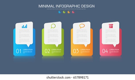 Business  infographics  template  the concept is circle option step with  full color icon can be used for diagram  infograph  chart  business presentation or web , Vector design element  illustration
