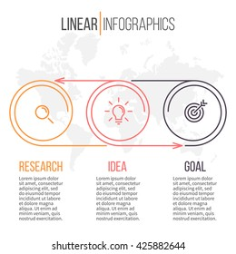 Business infographics. Timeline with 3 steps.