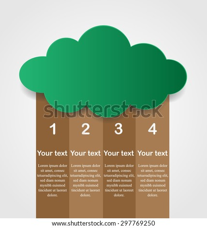 Business Infographics Tree Template Can Used Stock Vector Royalty