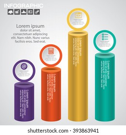 Business Infographics Vector illustration. can be used for workflow layout, banner, diagram, number options, step up options, web design.