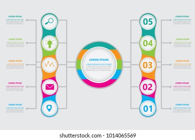 Business infographic.vector infographics timeline design template with 10 options.modern.vector illustration