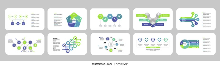 Business inforgraphic design set for management concept. Can be used for business project, annual report, web design. business workflow and flowchart vector infographic elements.