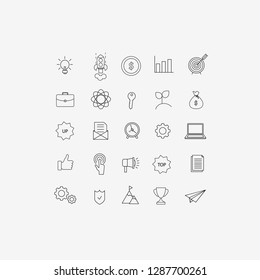 Business, Information Technology, SEO, Start Up Vector Illustration Flat Icons Design