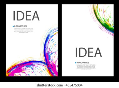 Business ink cover page layout brochure