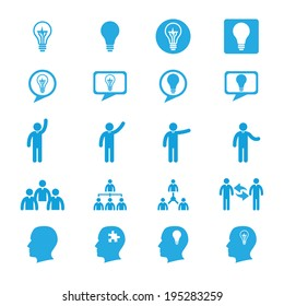 Business innovation concepts icons set