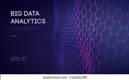 Business inteligence technology background. Binary code algorithms deep learning. Virtual reality analysis. Data science learning machine. Artificial intelligence data research and automation.