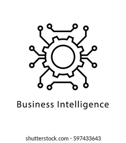Business Intelligence Vector Line Icon