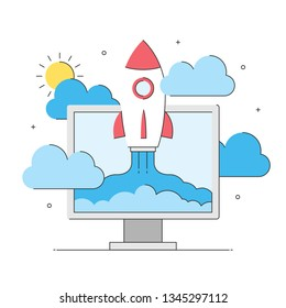 Rocket Science Related Icons Image Stock Vector (Royalty Free