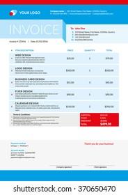 Business Invoice Template Vector Illustration Invoice Stock Photo ...