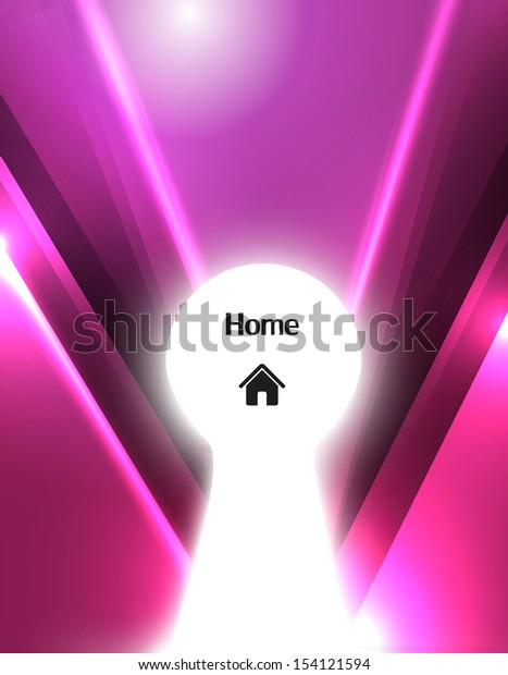 Business Keyhole paper, vector