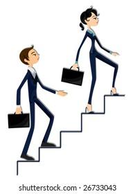Business Ladder - Vector