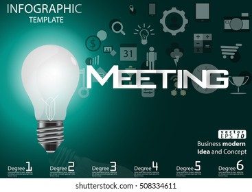 Business lamp for modern Idea and Concept Vector illustration Infographic template with icon.