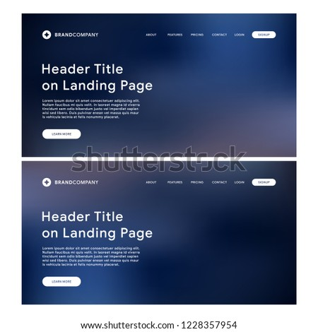 Business Landing Page Template Website Template Stock Vector