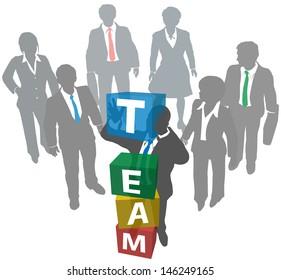 Business leader building teamwork people company team