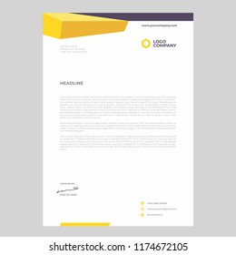 Business letter head templates for project design