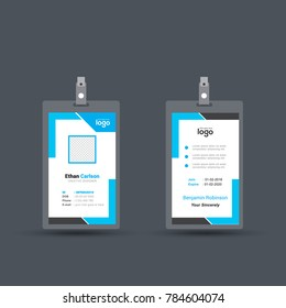 business letterhead design with blue color