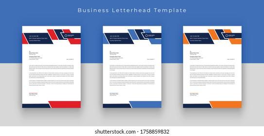 Business letterhead template, Corporate letterhead design vector