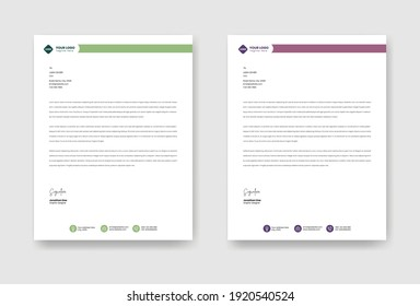 Business letterhead template. Vector illustration EPS 10
