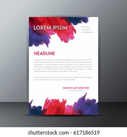 Business Letterhead Template,Watercolor Brochure