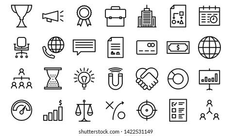 Business Life Line Icon Set