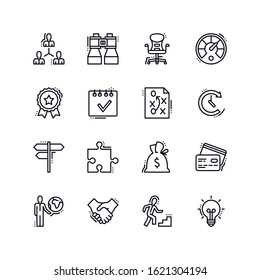 Business Line Icons - Set 1. Set of business icons, great for presentations, web design or any type of design projects.