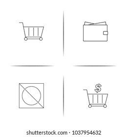 Business linear simple vector icon set.Outline icons