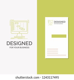 Business Logo for Ableton, application, daw, digital, sequencer. Vertical Green Business / Visiting Card template. Creative background vector illustration
