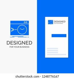 Business Logo for Admin, command, root, software, terminal. Vertical Blue Business / Visiting Card template.