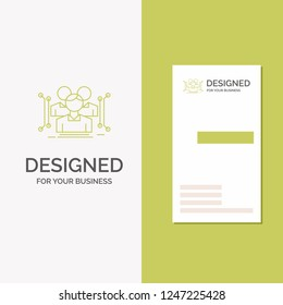Business Logo for Anthropometry, body, data, human, public. Vertical Green Business / Visiting Card template. Creative background vector illustration