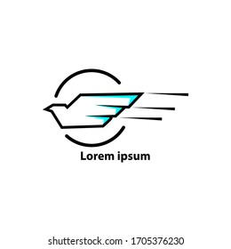 business logo. logo with a bird symbol with the concept of speed