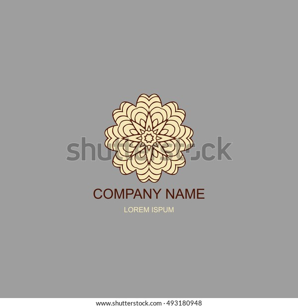Business logo. Floral, Oriental logo. The logo of the company in an Oriental-style, henna style