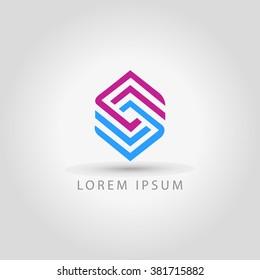 business logo letter s line vector