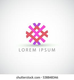 business logo lines rhombus vector sign